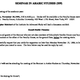 Announcements, 1999-11-18. ...