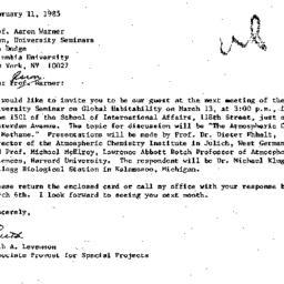 Correspondence, 1985-02-11....