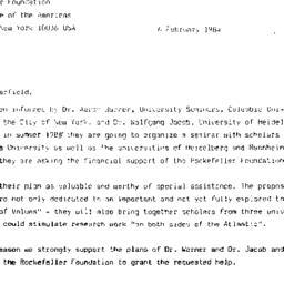 Correspondence, 1984-02-06....