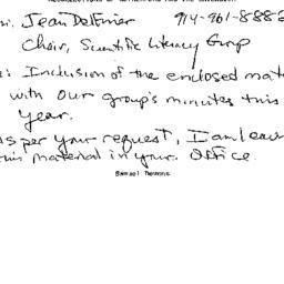 Correspondence, 2007-05-29....