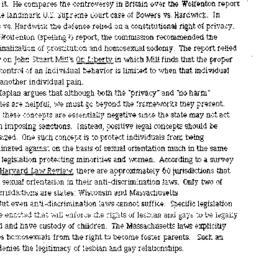 Minutes, 1991-03-07. Homose...