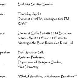 Announcements, 1999-04-08. ...