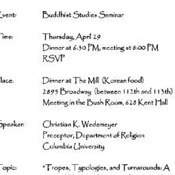 Announcements, 1999-04-29. ...
