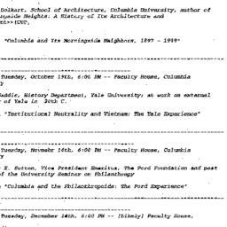 Announcements, 1999-09-21. ...