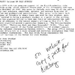 Announcements, 2001-05-31. ...