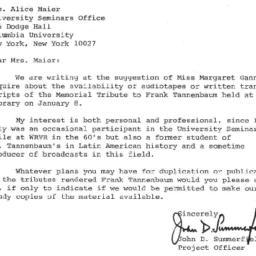 Correspondence, 1970-01-23....