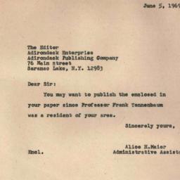 Correspondence, 1969-06-05....