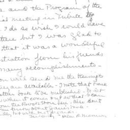 Correspondence, 1970-01-31....