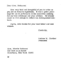 Correspondence, 1970-02-05....
