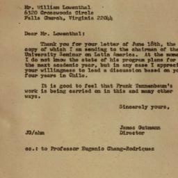 Correspondence, Frank Tanne...
