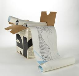 Unrolled illustration with case, 2