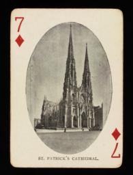 St. Patrick's Cathedral pictured on the 7 of diamonds