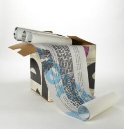 Unrolled illustration with case