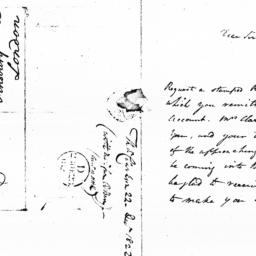 Document, 1822 December 22