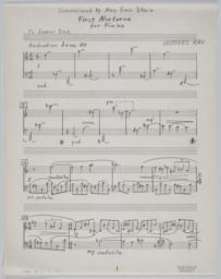 First Nocturne, page 1