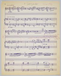 Five Portraits: proof for full score, page 2