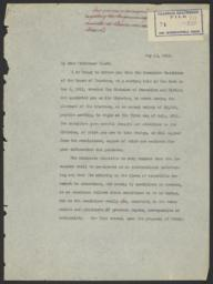 Appendix to the Board Meeting Minutes of May 8, 1911