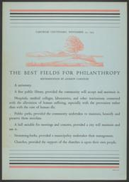 The Best Fields for Philanthropy Poster