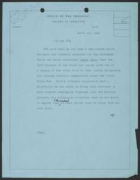 Record of Interview with Frederick P. Keppel