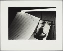 Jersey Hours manuscript beside a photograph of Barbara Kay