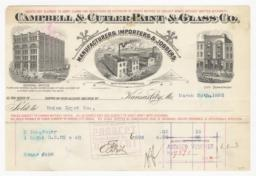 Campbell & Cutler Paint & Glass Co.. Bill - Recto