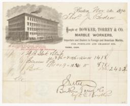 Bowker, Torrey & Co.. Bill - Recto