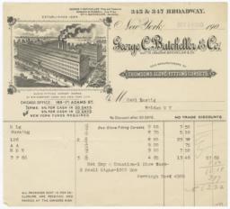 George C. Batcheller & Co.. Bill - Recto