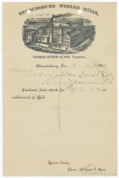 Thomas Kitson & Son. Letter - Recto