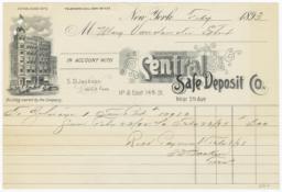Central Safe Deposit Co.. Bill - Recto