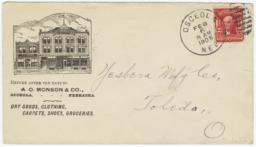 A. O. Monson & Co.. Envelope - Recto