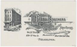 DeLong Brothers. Card stock - Recto