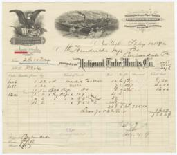 National Tube Works Company. Bill - Recto