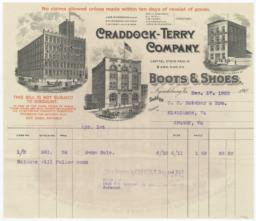Craddock-Terry Company. Bill - Recto
