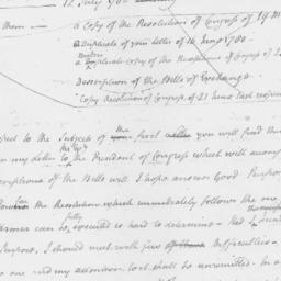 Document, 1780 November n.d.