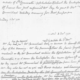Document, 1781 December 01