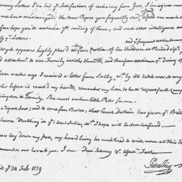 Document, 1779 February 24