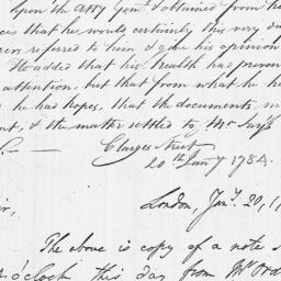 Document, 1784 January 20
