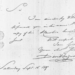 Document, 1809 September 16