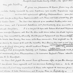 Document, 1821 April 24