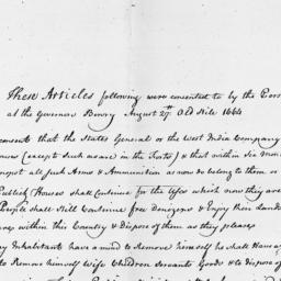 Document, 1664 August 27