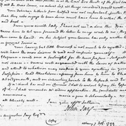 Document, 1799 February 10