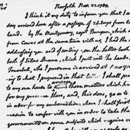 Document, 1789 November 23