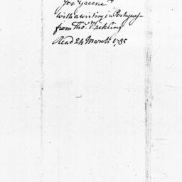 Document, 1785 March 17