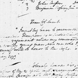 Document, 1779 June 14