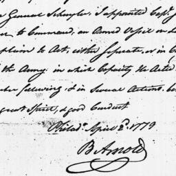 Document, 1779 April 02