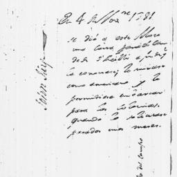 Document, 1781 November 03