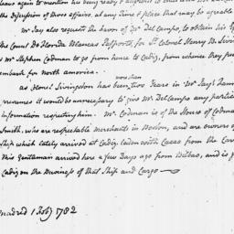 Document, 1782 February 1