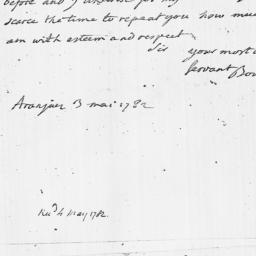 Document, 1782 May 03