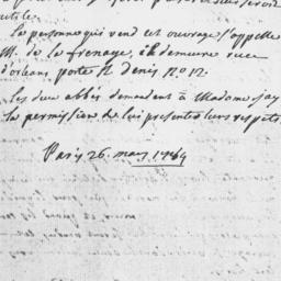 Document, 1784 May 26