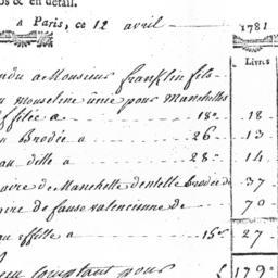 Document, 1781 April 12